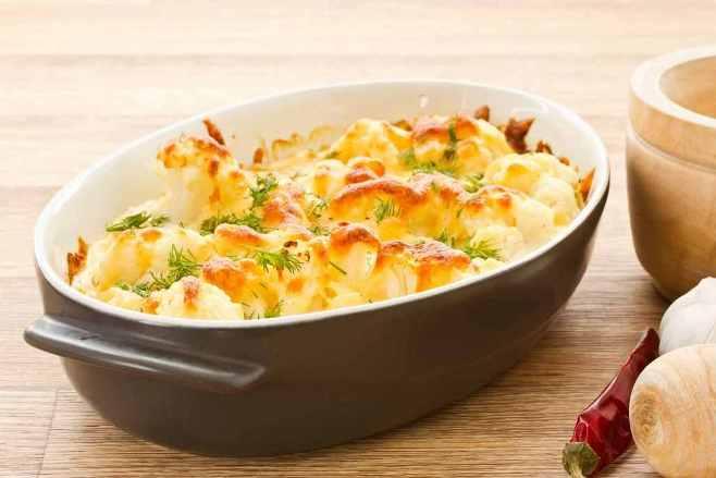 sajtos rakott karfiol