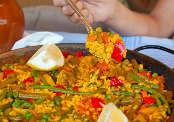 zoldseges paella