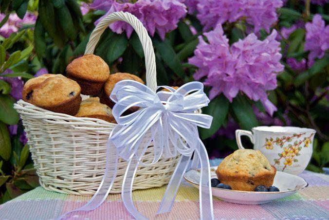 Joghurtos áfonyás muffin