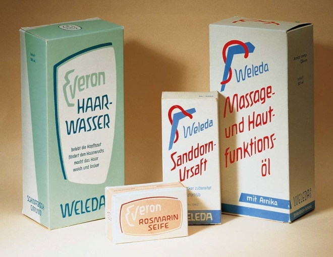 Early Weleda packaging, 1926-1930